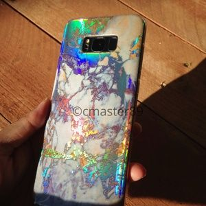 Extra Holographic Marble Samsung S8+ Plus Case